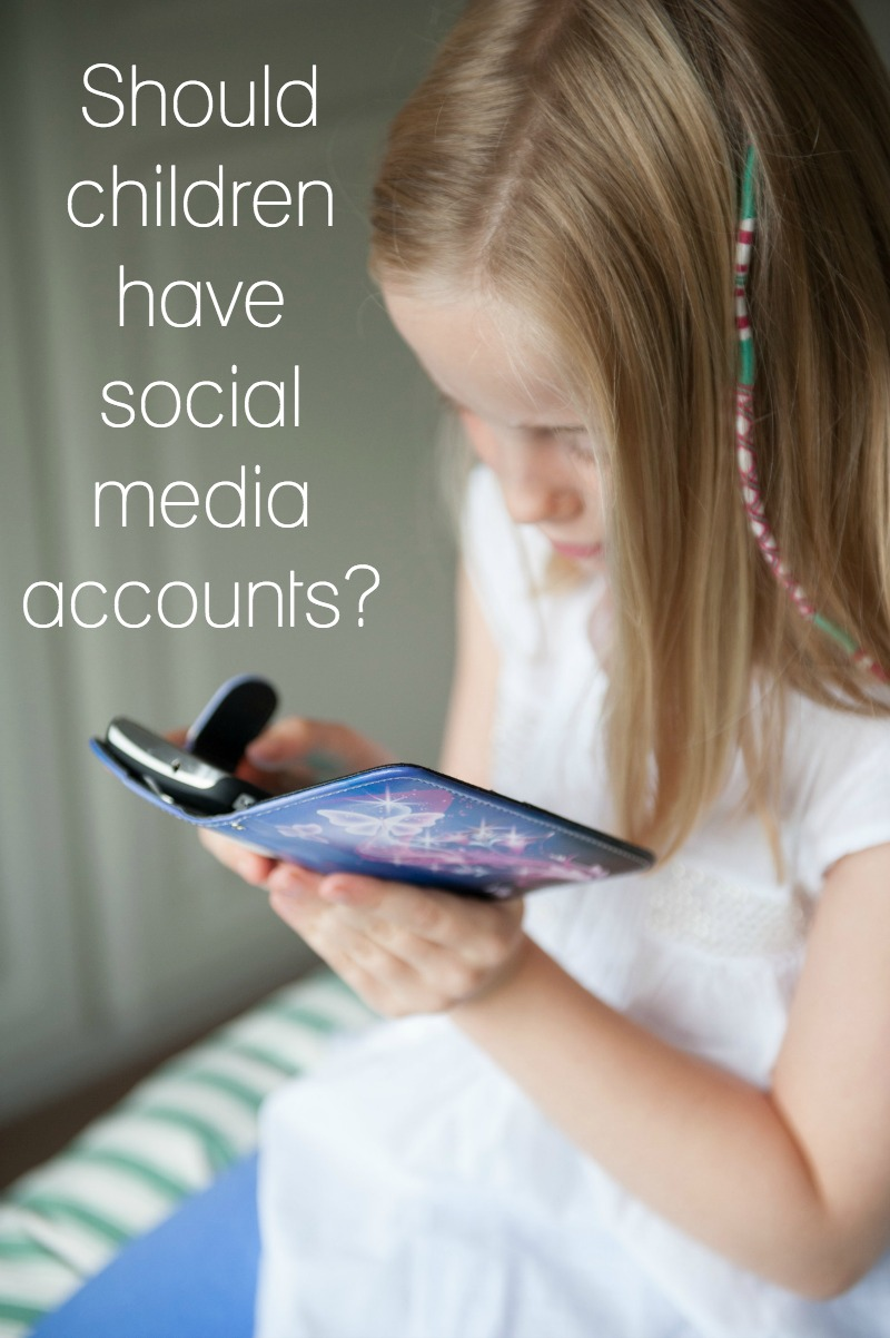 Should children have social media accounts?>