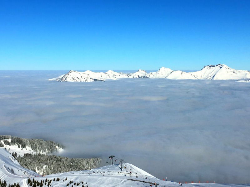 Family ski resort in the French Alps - Les Carroz has spectacular views