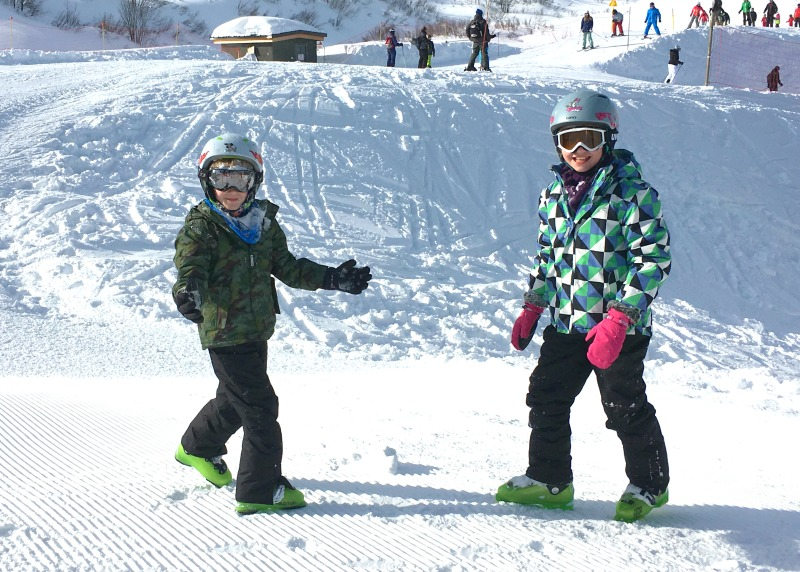 Family ski resort in the French Alps - the slopes are rarely too crowded