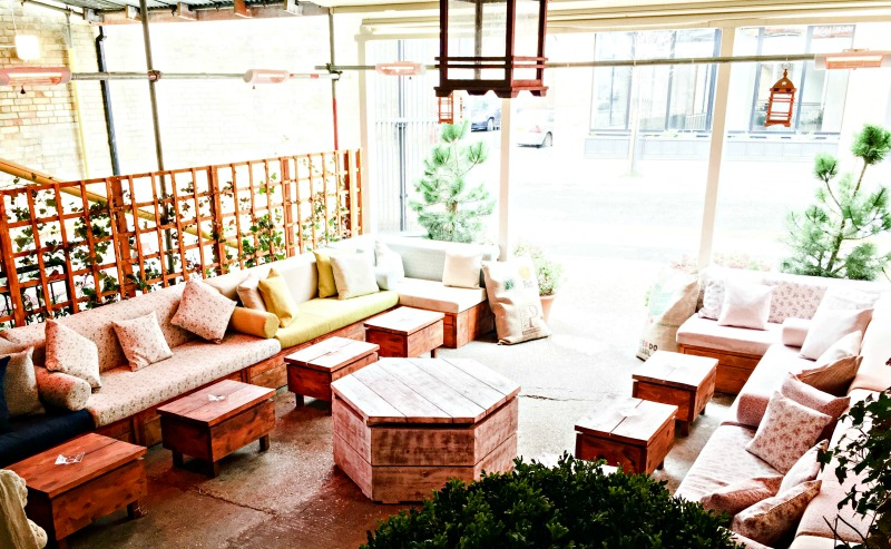 Even the outdoor area is chilled out and hip - Wringer and Mangle review