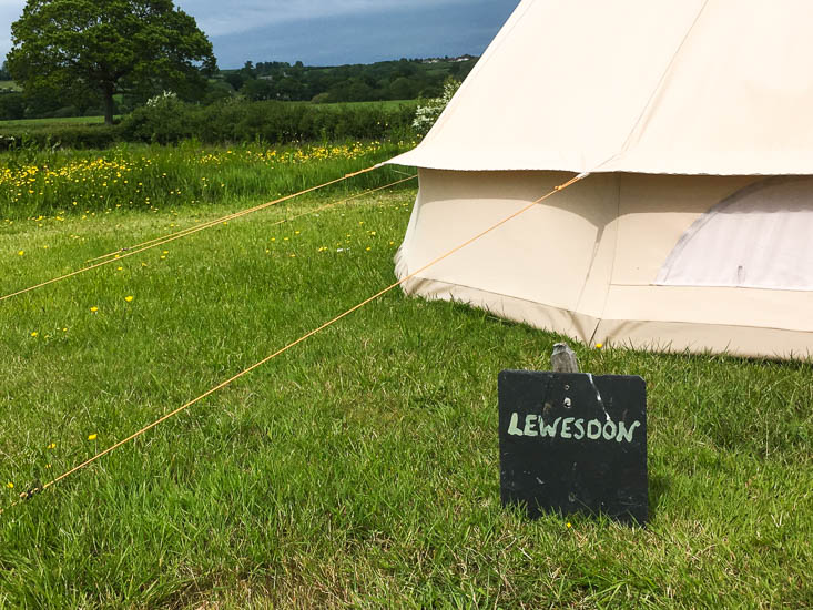 Old Bidlake Farm camping review - pre-pitched bell tents make setting up easy.