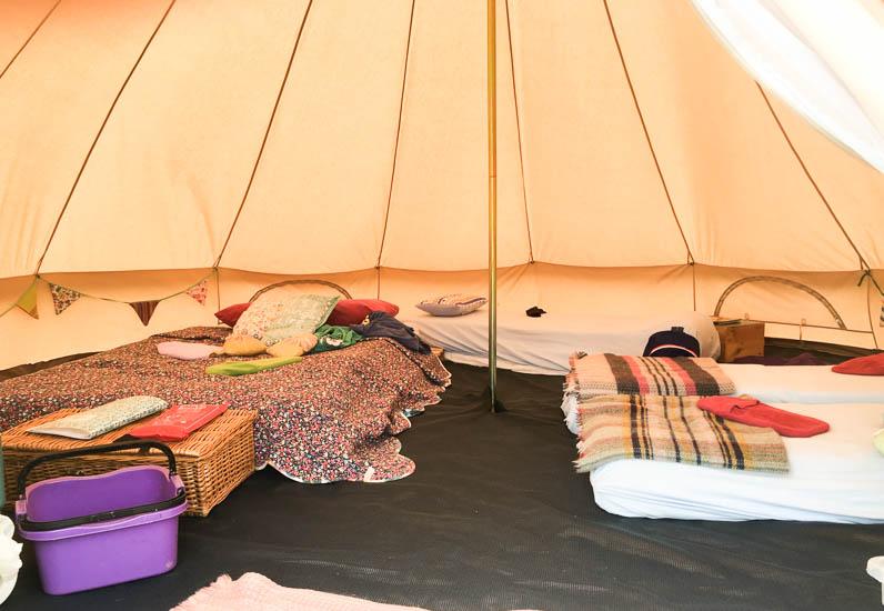 Old Bidlake Farm bell tents