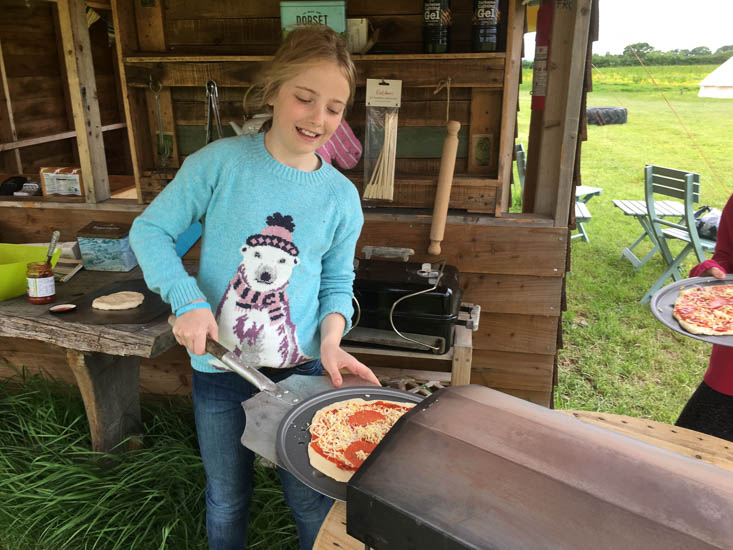 The wood-fired pizza oven at Old Bidlake Farm