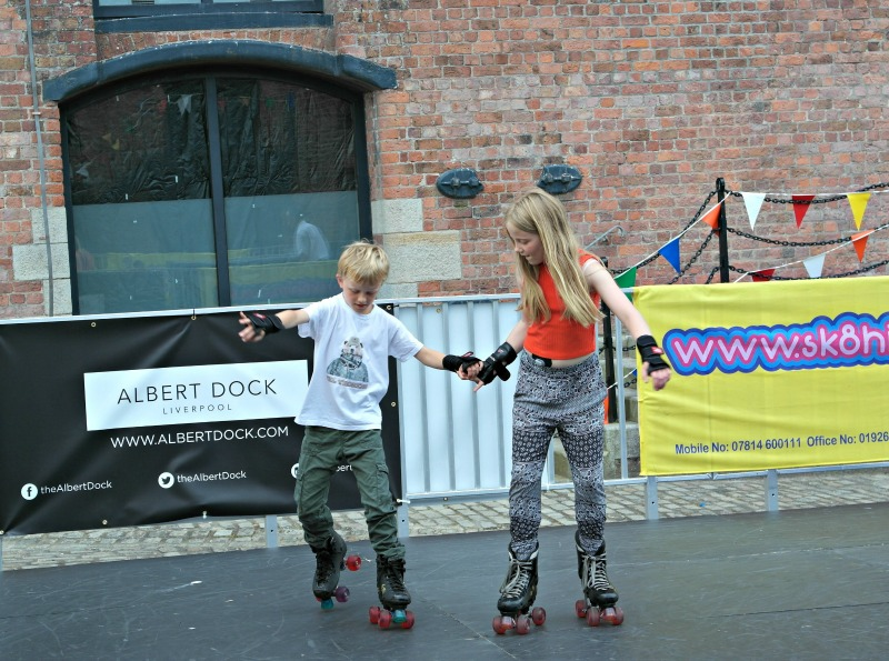 Roller rink at the Albert Dock, Liverpool