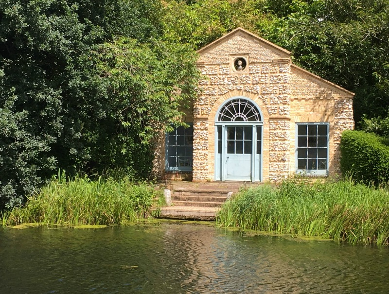 The pretty summer house at West Lexham would be a lovely place for a small wedding ceremony.