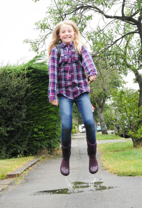 Our wellies stood up to the puddle test!