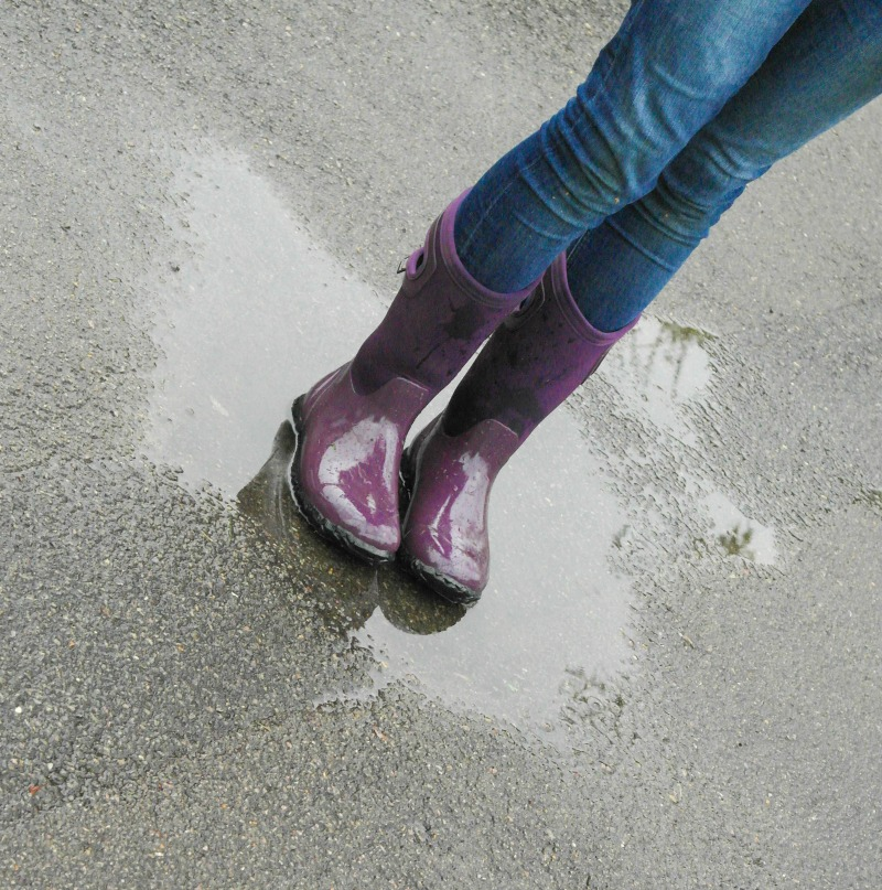 Handles in our wellies made them much easier to pull on