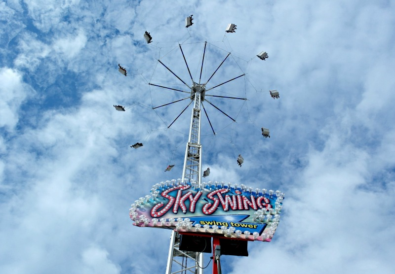 The Sky Swing at Liverpool's dock is a huge thrill for kids, and a nerve-wracker for their mums!