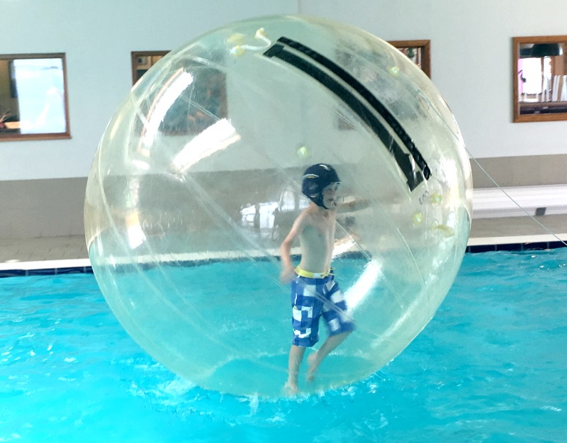 Water Walkerz are just one of the activities in the Go Active range at Piran Meadows in Cornwall. Think staying upright in a giant hamster ball on water!