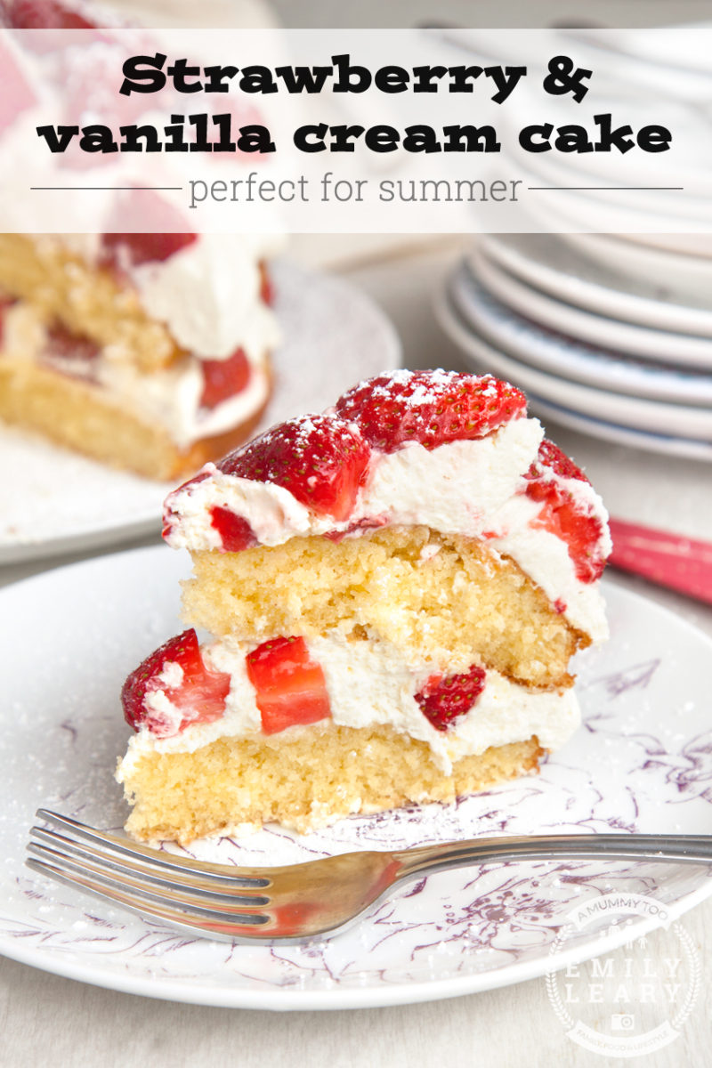 Easy strawberry recipes: Strawberry cake easy enough for children to make
