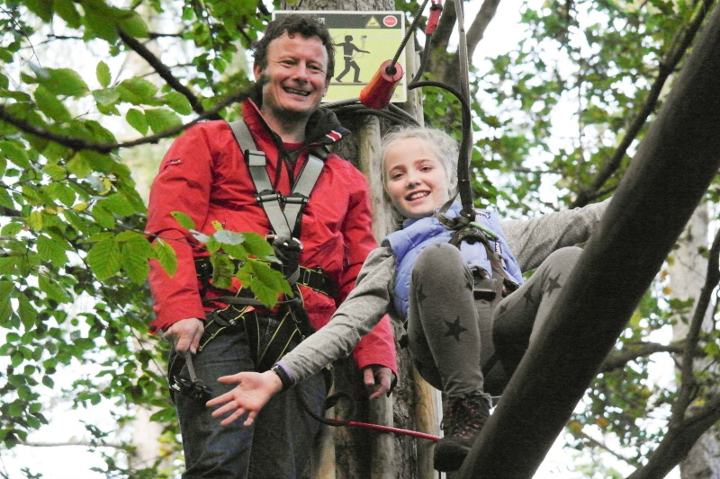 Safety at Go Ape tree top adventure feels really good, with a sound training session before starting the course