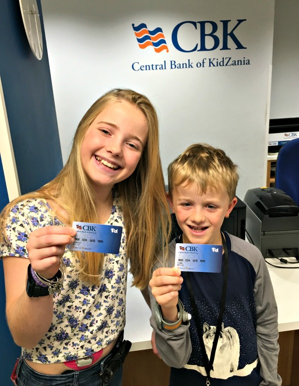 Getting a bank account at Kidzania was a big thrill for the kids