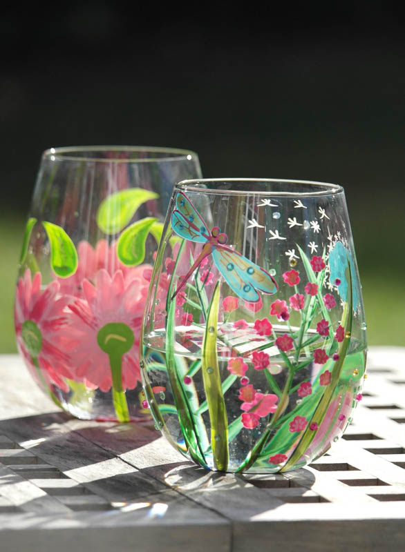 Beautiful Summer Wine Glasses