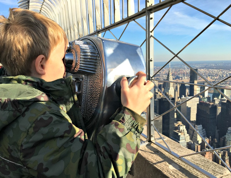 New York trips: the Empire State Building Observation Deck gives incredible views