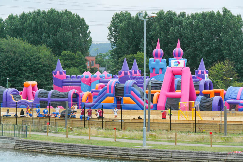 Inflatables at Lee Valley White Water Centre