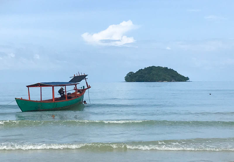 Cambodia family holiday highlights - a chillout at Otres Beach in Sihanoukville is a must