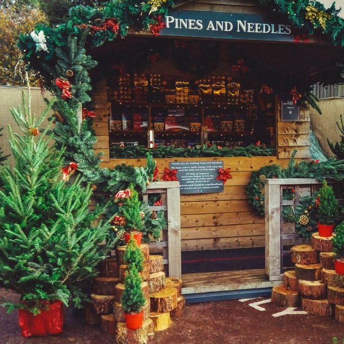 We found our perfect Christmas tree at a Pines and Needles store, then had it delivered