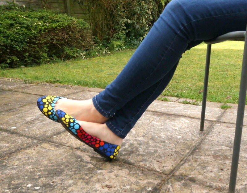 Comfortable shoes that are also stylish: Heart & Sole colourful ballerina flats