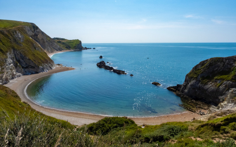 Beautiful Jurassic coastline of Durdle door