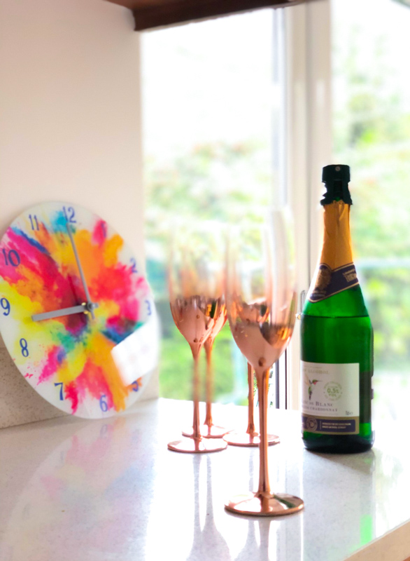 Rose gold champagne flutes Christmas gifts for mum