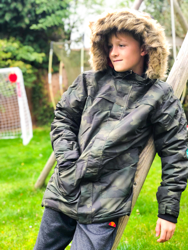 Gifts for teenagers - warm camo coat