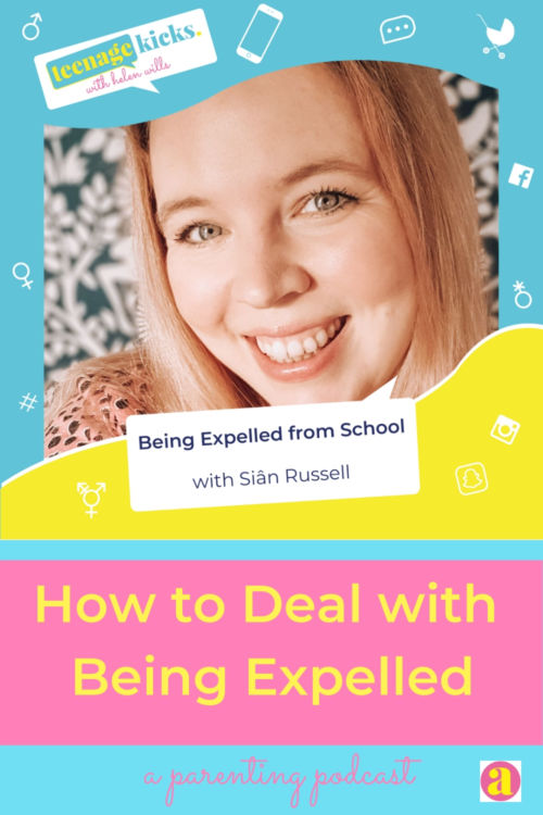 Siân Russell talks on the podcast about how she made a success of her life after being expelled from school