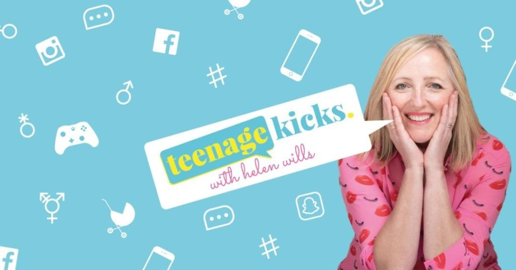 An announcement for the Teenage Kicks podcast