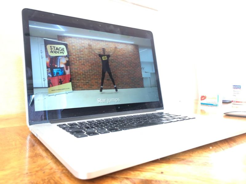 A Stage Academy teacher delivering an online class