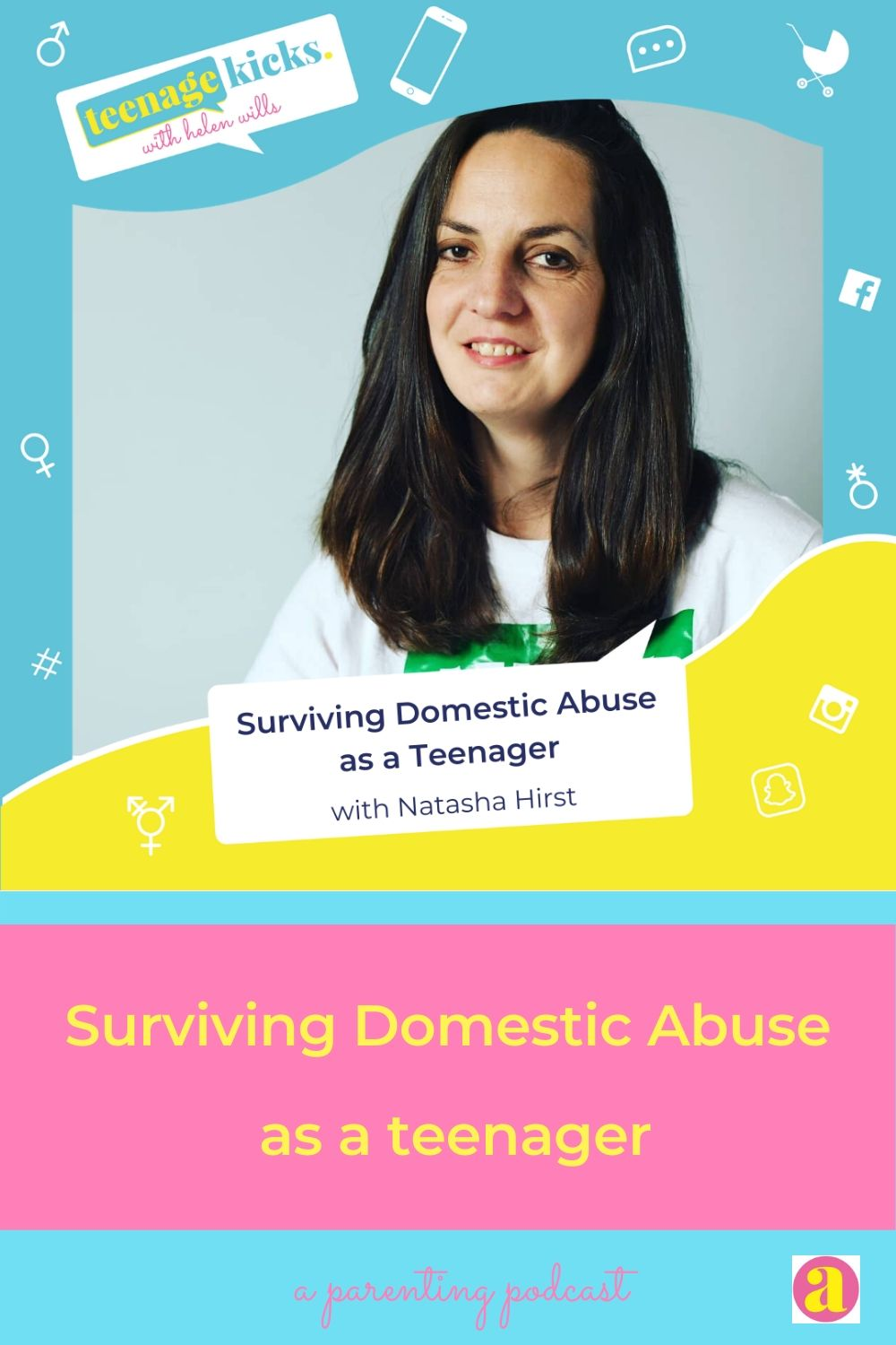 Pinterest image - how Natasha survived domestic abuse as a teenager