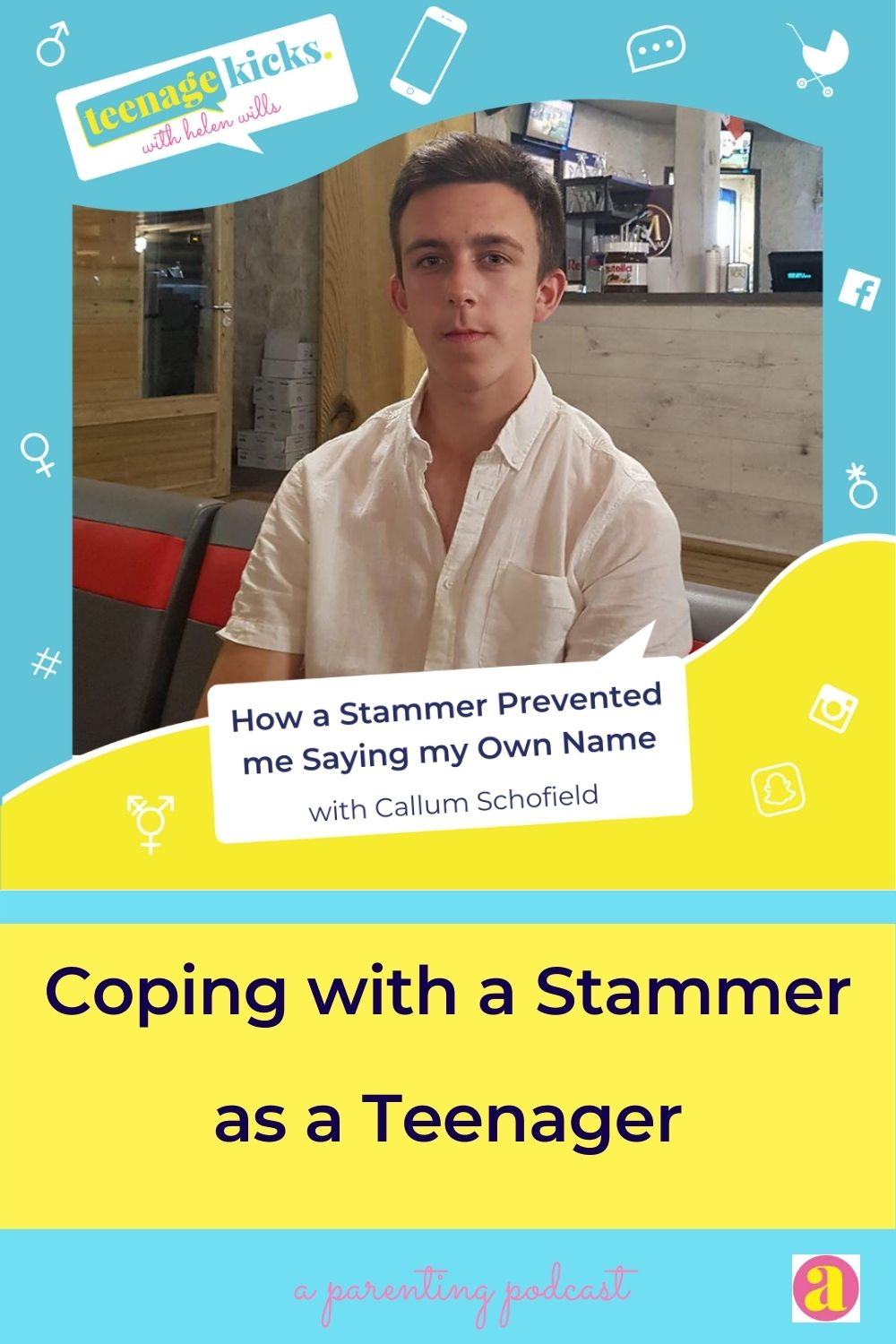 Callum describes how teenage stammering affected his mental health in this episode of the Teenage Kicks podcast