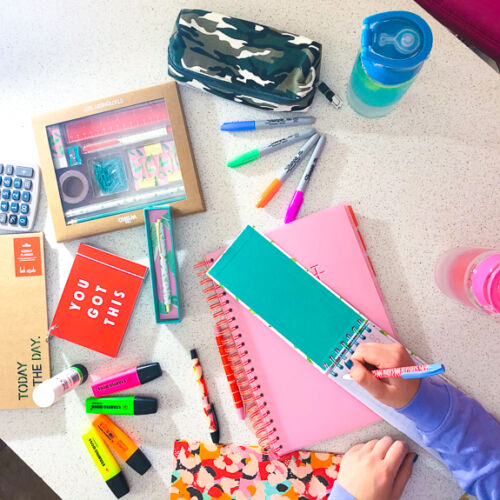 stationery items from wilko's back to school range