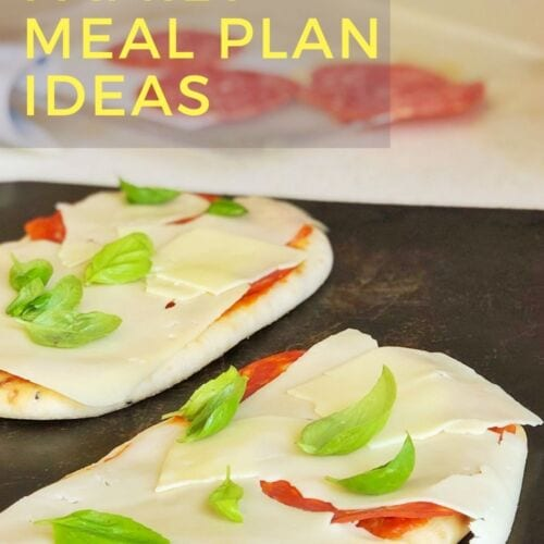 Quick teenage family lunch ideas - Naan pizza