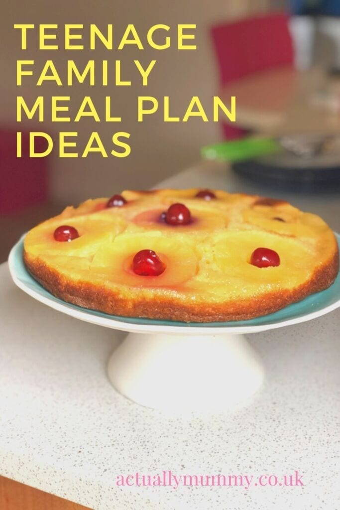 Meal plan ideas for parents of teens - always provide cake!