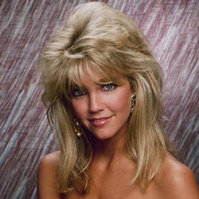 An image of Heather Locklear with big hair in the 80s