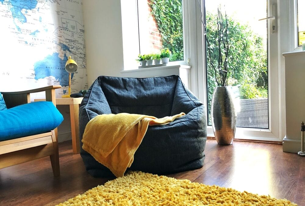 Adding Extra Seating in the Teen Chillout Room With a Beanbag Armchair