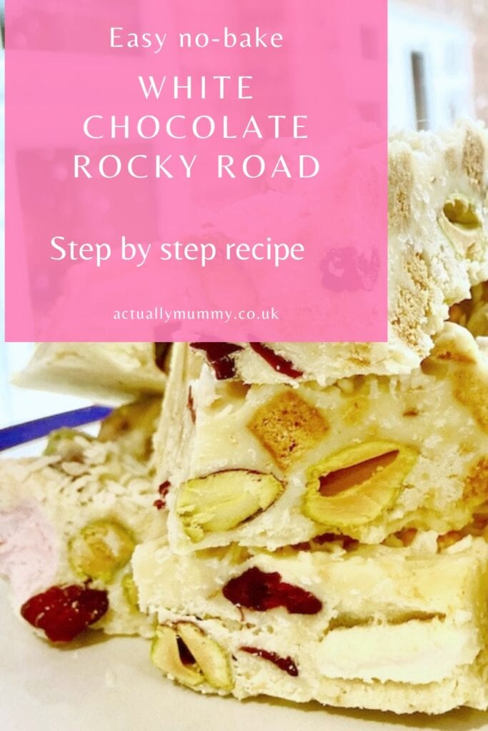 How to make a white chocolate rocky road with a difference