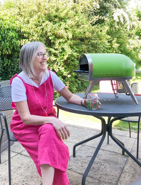 The Gozney Roccbox outdoor pizza oven