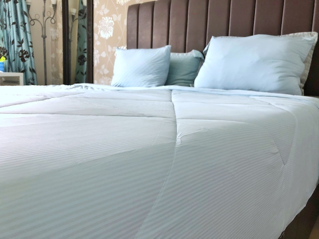 A summer weight cooling duvet keeps you feeling cool at night in a heatwave