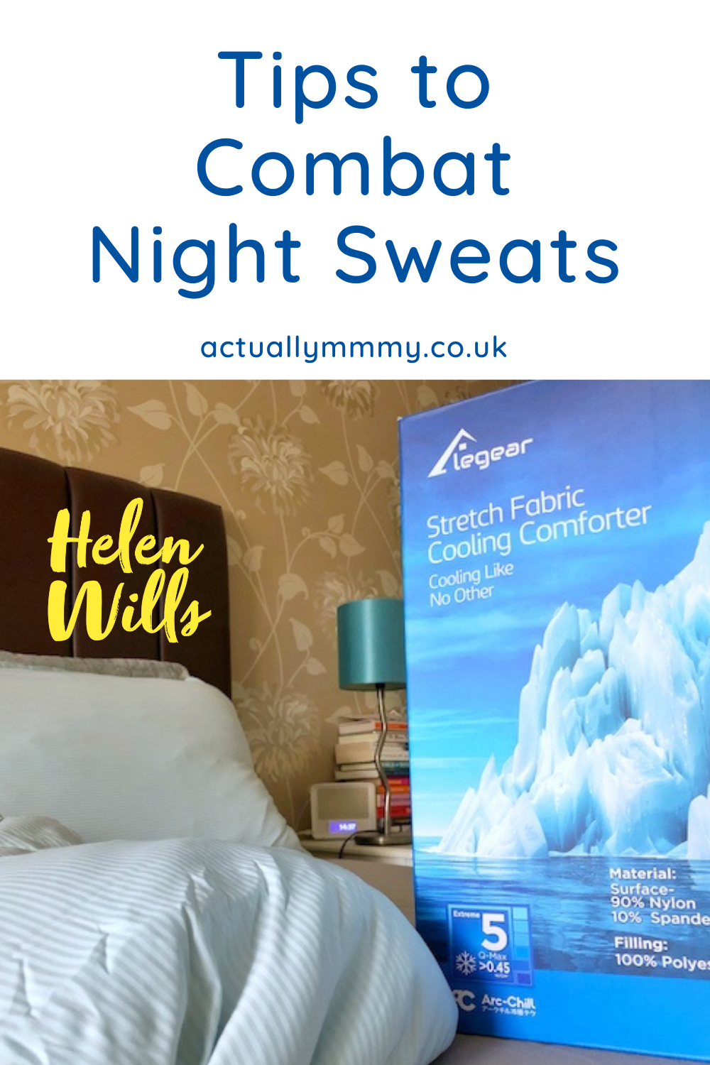 Help with night sweats during menopause and other conditions.