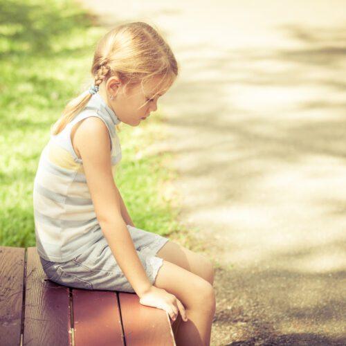 Reparenting my inner child - sad little girl