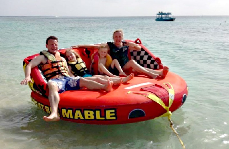 Around Barbados on an inflatable sofa